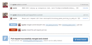 Post Merge / Closed Screen