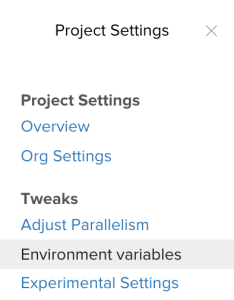 Settings -> Environment Variables